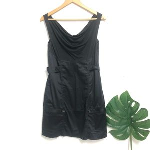 DVF vintage black silk blend dress